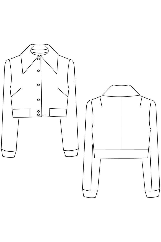 Schnittmuster für eine coole Jacke: die Jacke Holly mit