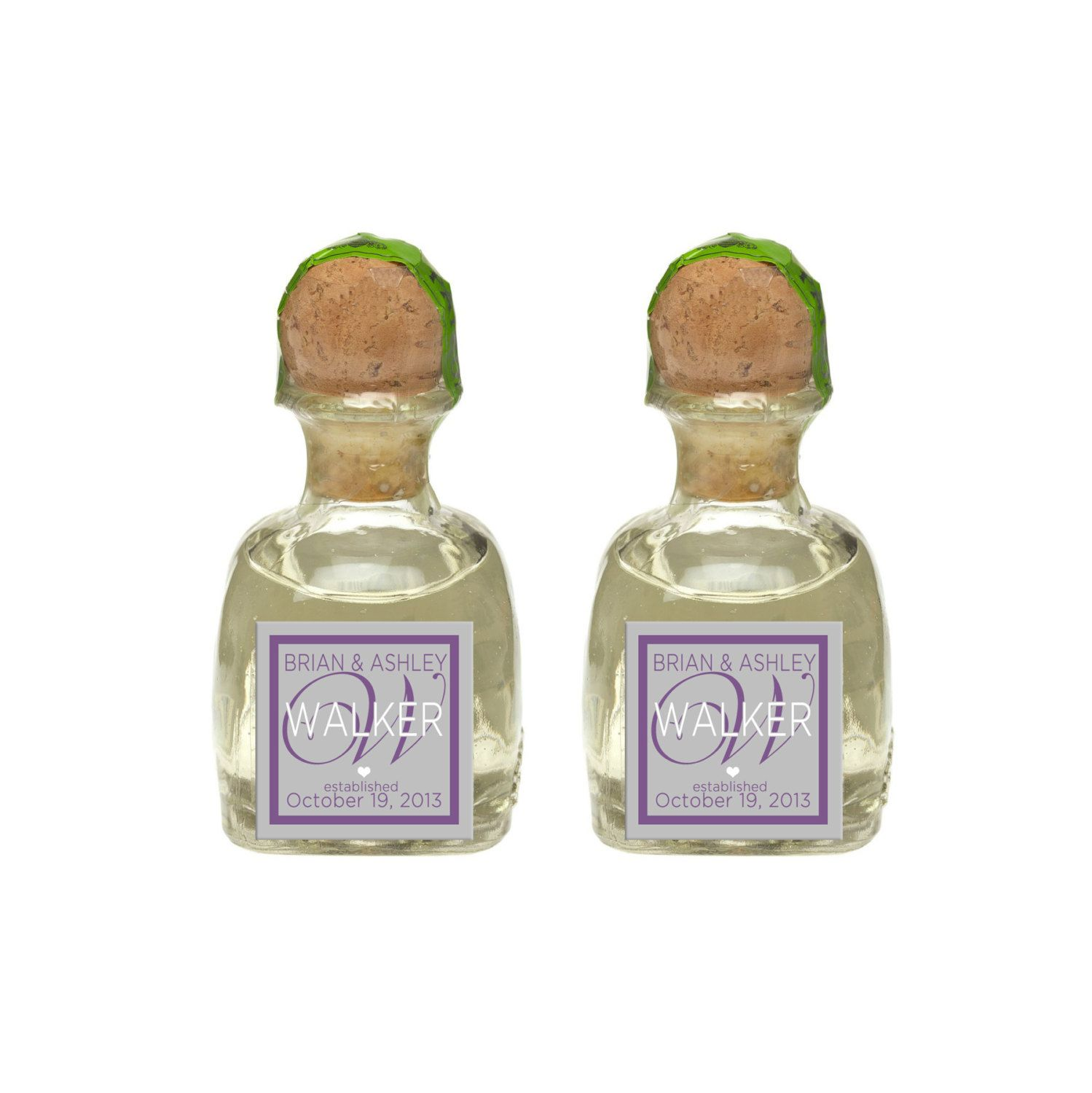 Custom Patron Tequlia Mini Bottle Labels Personalized Wedding Favors ...