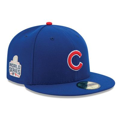 9b56ad0eaef Chicago Cubs New Era 2016 National League Champions World Series Patch  59FIFTY Fitted Hat - Royal