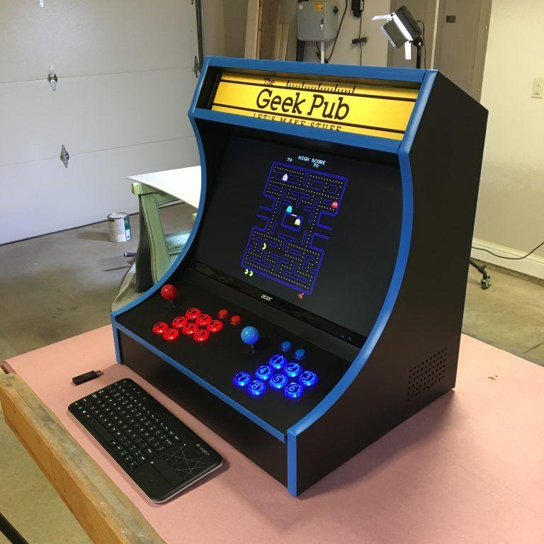 Bartop Arcade Cabinet Plans - The Geek Pub | Bartop arcade ...