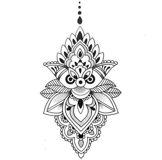 Diseños De Mandalas Para Descargar Dibujo Pinterest