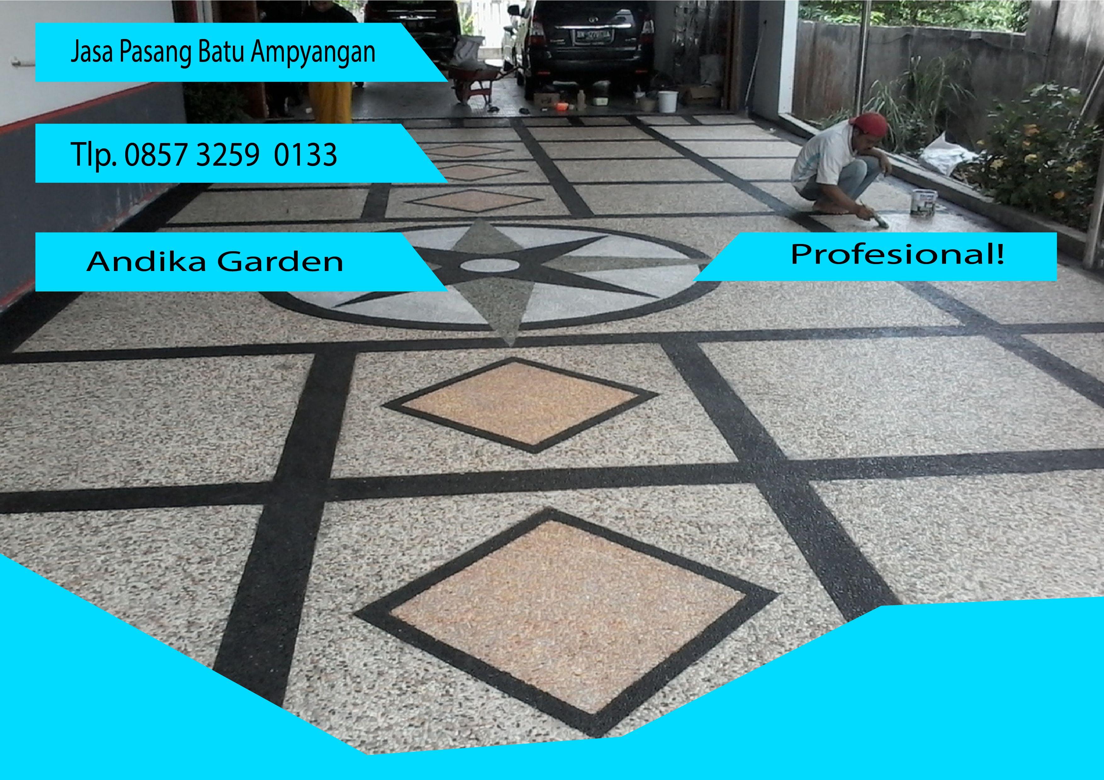 Jasa Cor Lantai Garasi Dengan Batu Alam Call 0857 3259 0133 Andika Garden In 2020 Batu Gresik Batu Alam