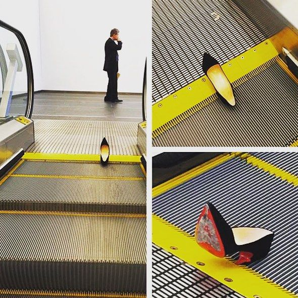 But of Course, a Louboutin Broke the Condé Nast Escalator [Updated] 8/13/15