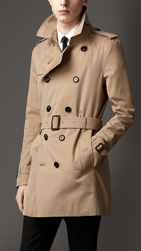 Mid-Length Cotton Gabardine Trench Coat   Burberry   Costuming ... 436372e88a3