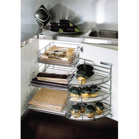 Easy Corner 3 Niveaux Accessoires Cuisine Cuisine Meuble Cuisine
