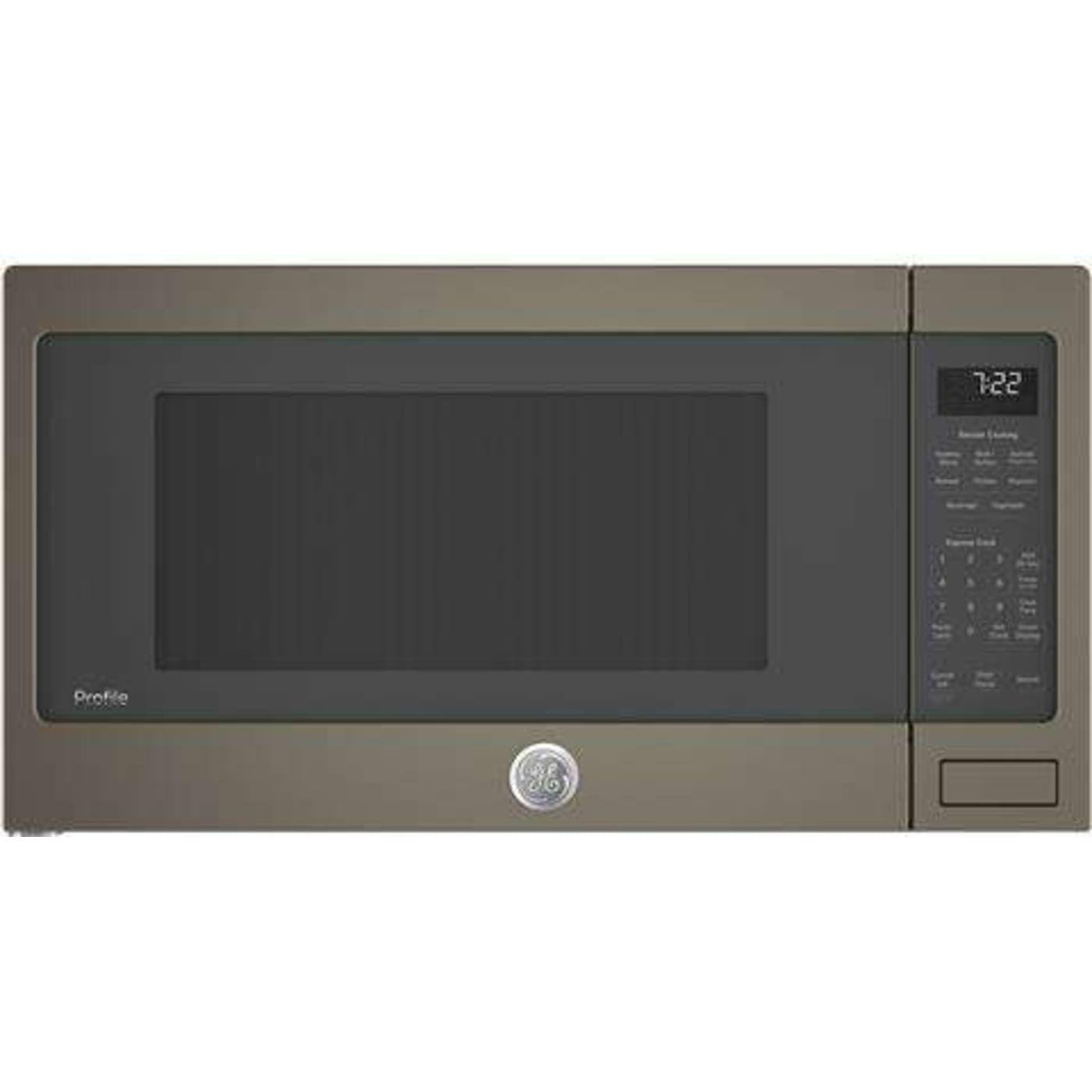 Pes7227eles By Ge Countertop Microwaves Goedekers Com Slate