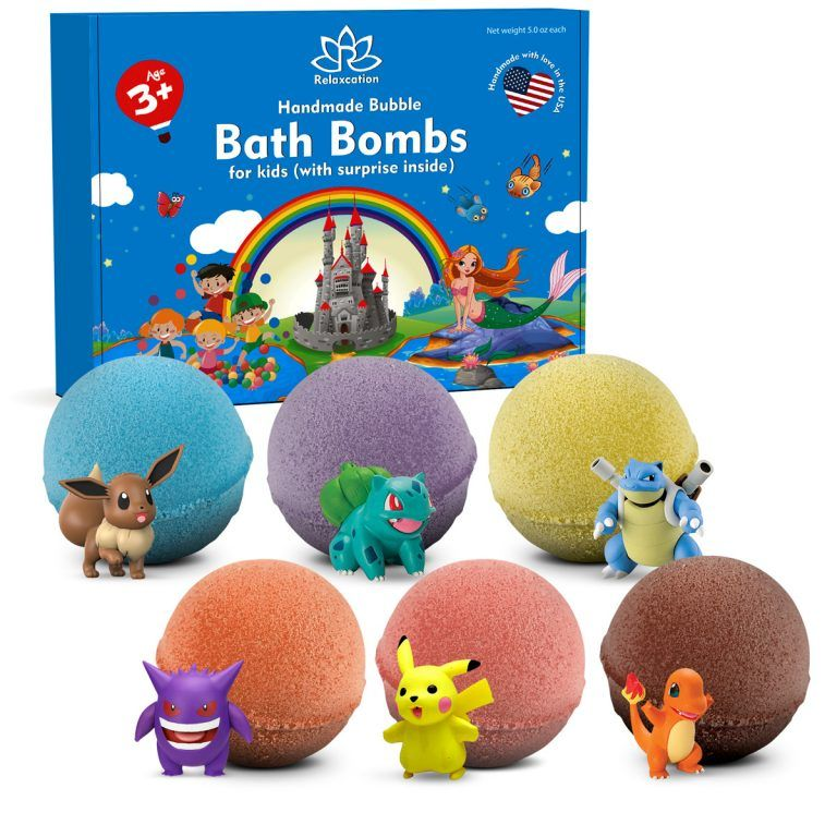 6 Bath Bombs For Kids With Toys Inside In 2020 Bath Bomb Gift