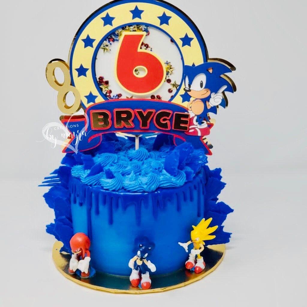 6th Birthday Shaker Cake Topper