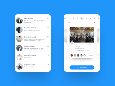 Daily Ui  Direct Message  Event Calendar  Event Calendar And