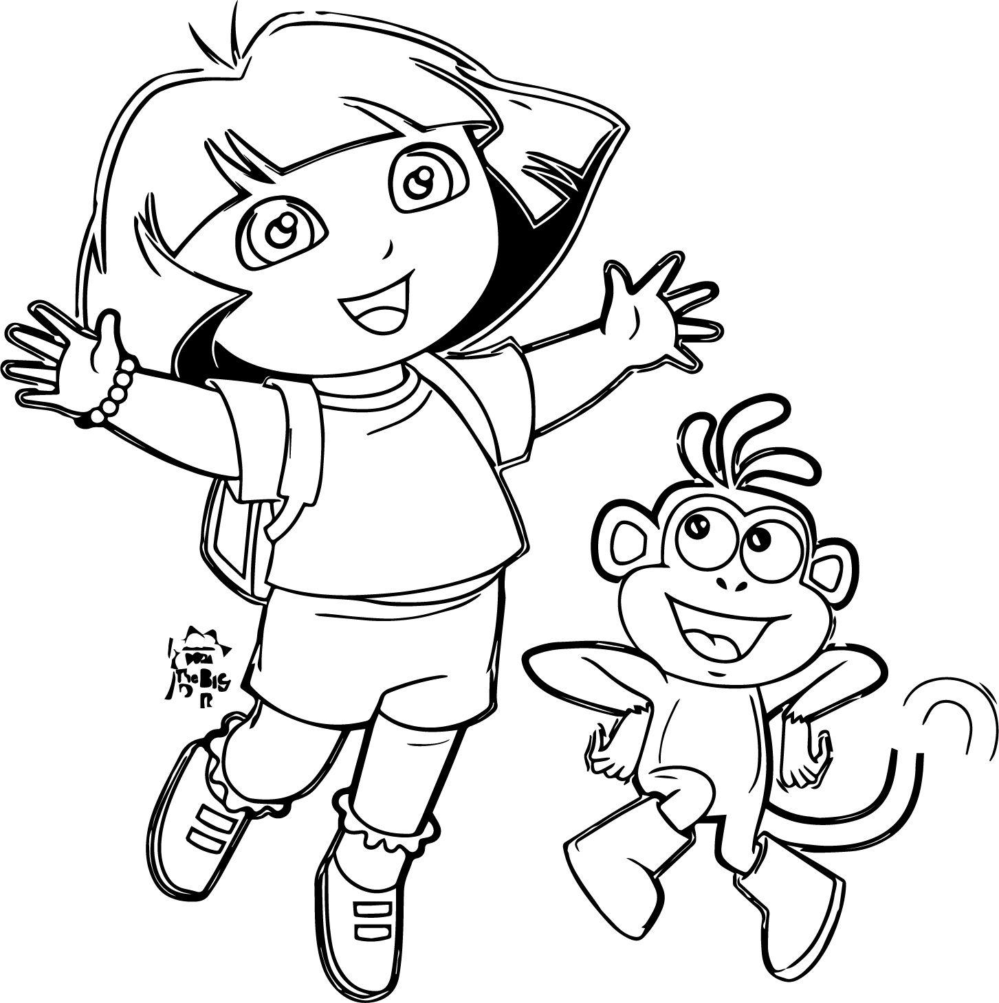 Nice Dora Cartoon Coloring Pages