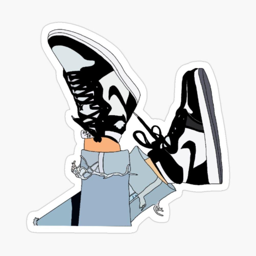 trendy shoes Sticker