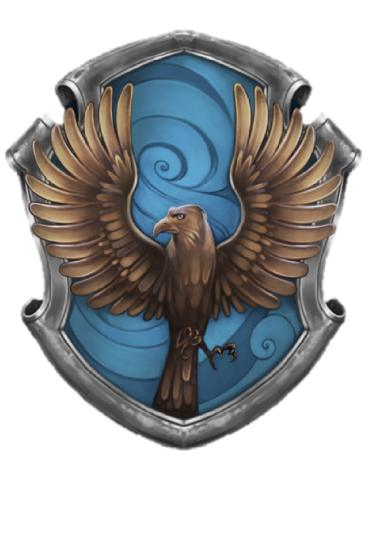 Reversed Ravenclaw Crest image to print onto cushion or t ...