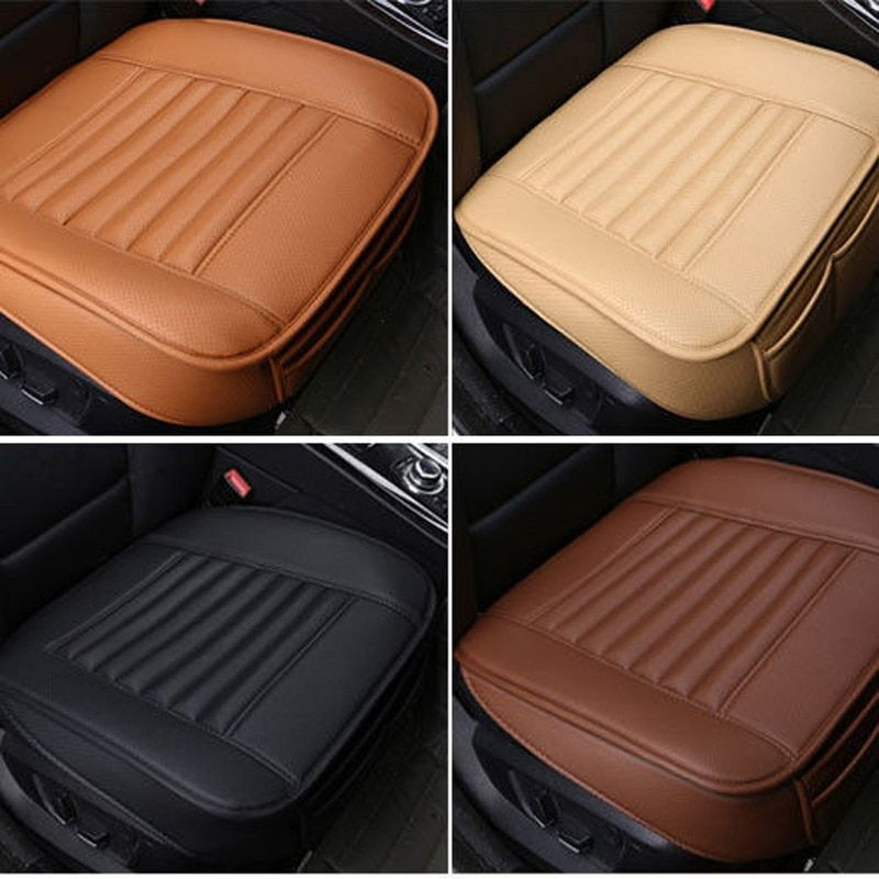 Car Seat Cover Breathable PU Leather Mat Pad for Auto Chair Cushion Comfort