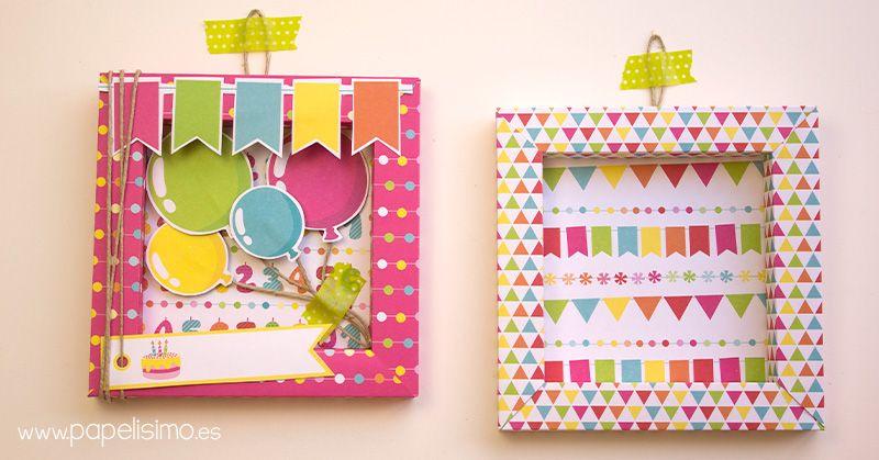 Tarjeta-de-cumpleaños-marco-de-papel-3D-Scrapbooking   Craft & Scrap ...