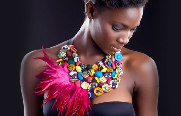 African Fabric Designs: Emphasize your Beauty with Ankara Statement Necklaces