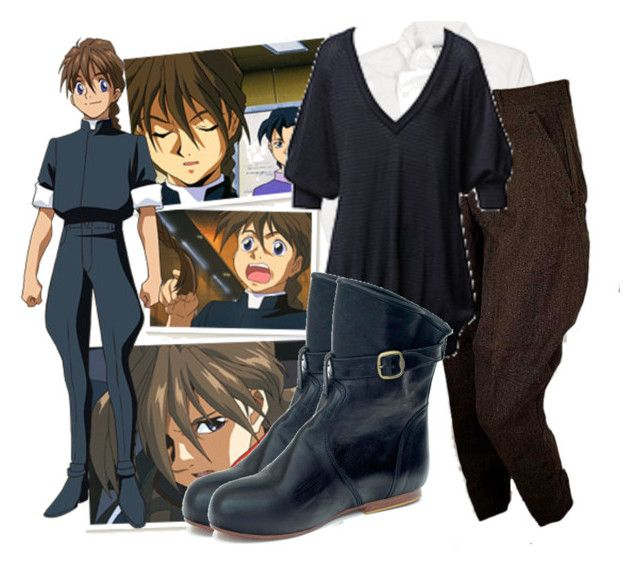 """Gundam Wing - Duo Maxwell"" by walnutwhale ❤ liked on Polyvore featuring Moschino, French Connection, Mogil, anime and cosplay"