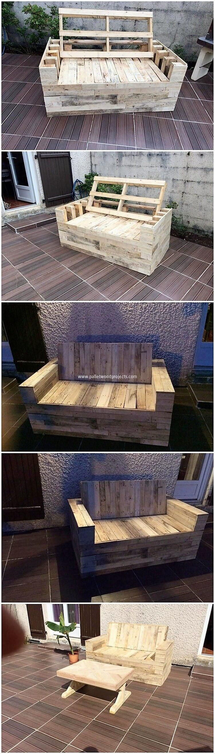 Bring Home This Antique Style Of The Wood Pallet Bench