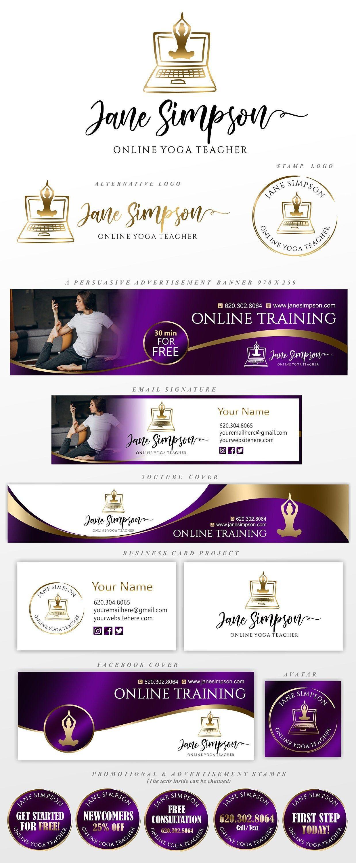 Yoga Teacher Logo Online Yoga Classes Yoga Therapy Logo Etsy In 2020 Online Yoga Classes Teacher Logo Online Yoga