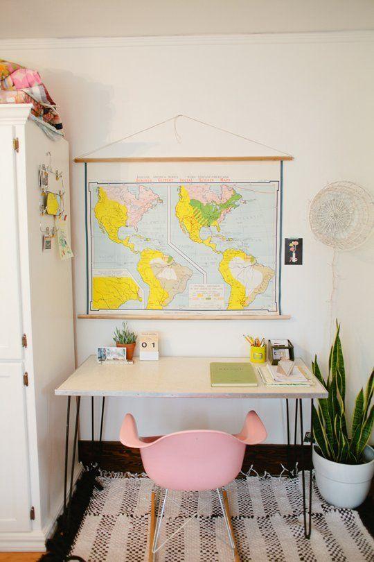デスクの前に世界地図があったら、ステキなアイディアが浮かびそう!!