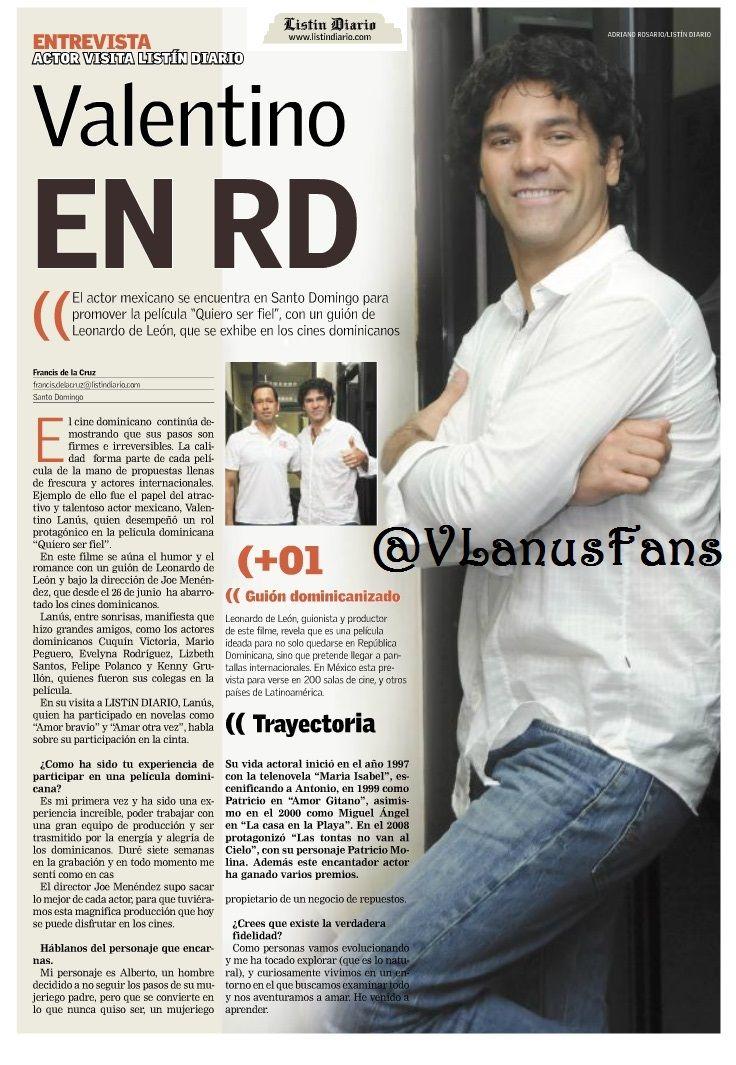 Valentino Lanús Valentinolanus En El Listíndiario De República Dominicana 15 De Julio 2014 Valentino Lanus Actriz Mexicana Dominicano