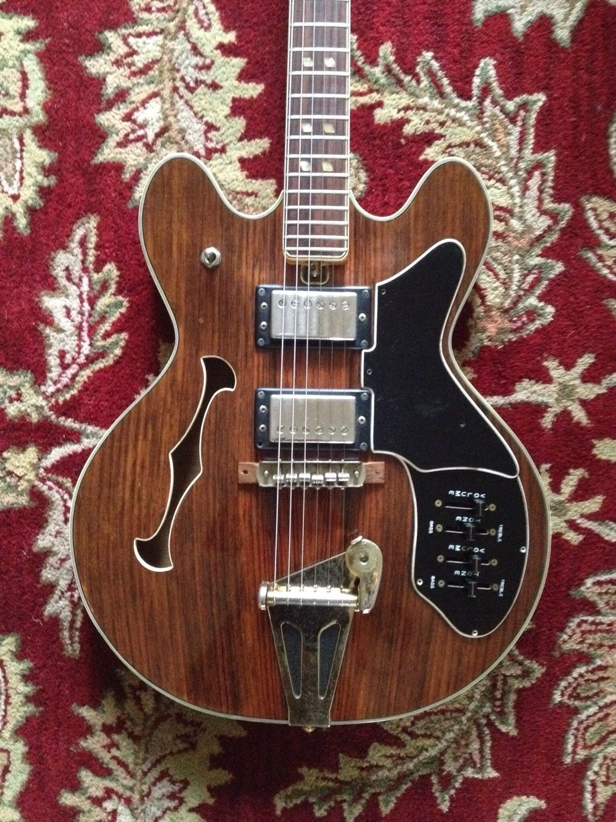 Vintage Late 1960s National Es 335 Style Semi Hollow Body Electric Guitar Electric Guitar Guitar Archtop Guitar