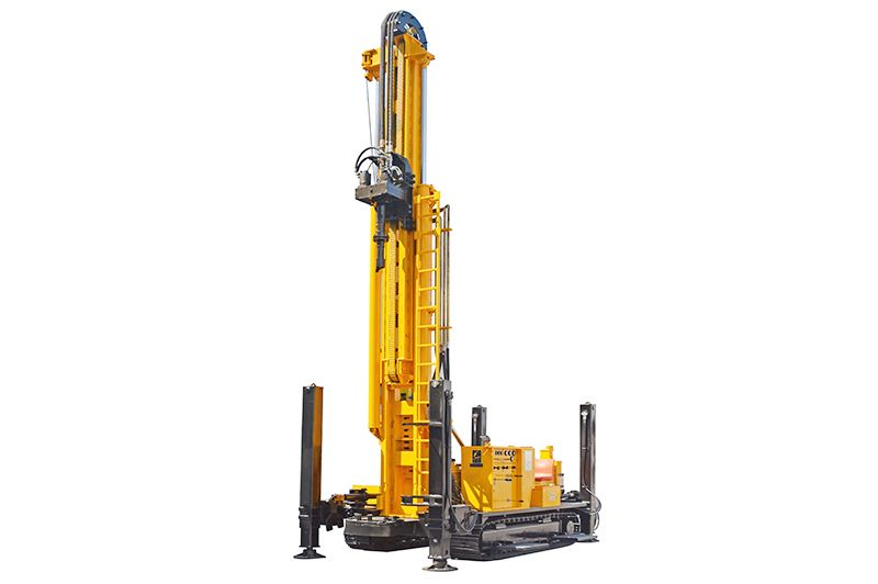 Jks500s Crawler Mounted Telescoping Mast Well Drillnig Rig Applicable To The Drilling Process Of Wa Water Well Drilling Rigs Water Well Drilling Well Drilling