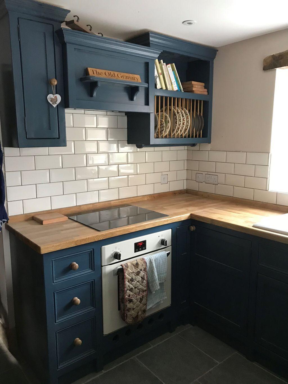 40 Lovely Blue Kitchen Ideas In 2020 Freestanding Kitchen Kitchen Renovation Kitchen Cabinets Decor