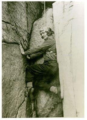 """miriam underhill 1898-1976, grimpeuse américaine à l'origine du concept """"manless climbing"""""""