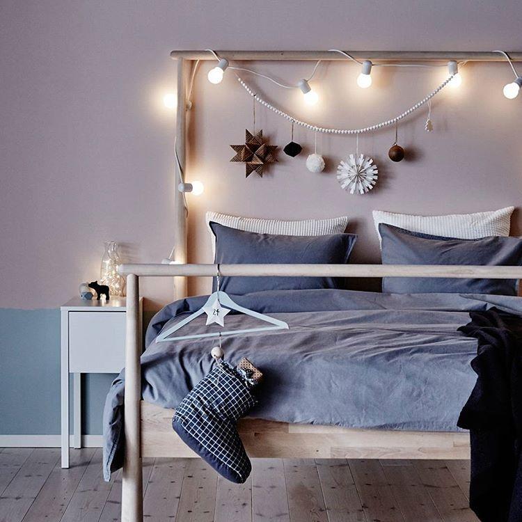 Camera Letto Matrimoniale Ikea.Soverommet Er Kanskje Ikke Det Forste Stedet Du Pynter Til Jul