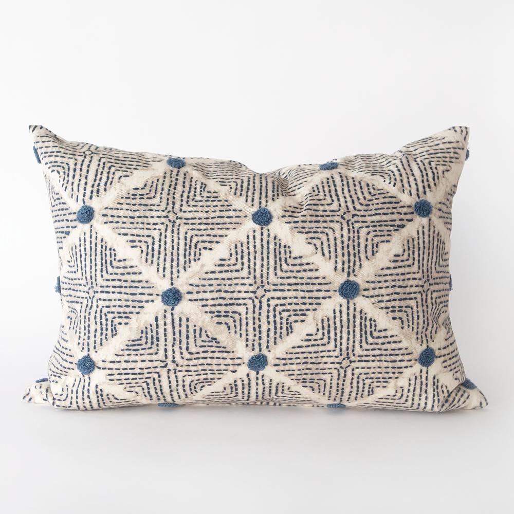 Wilshire 14x20 Lumbar Pillow, Navy   Cojines, Fundas de