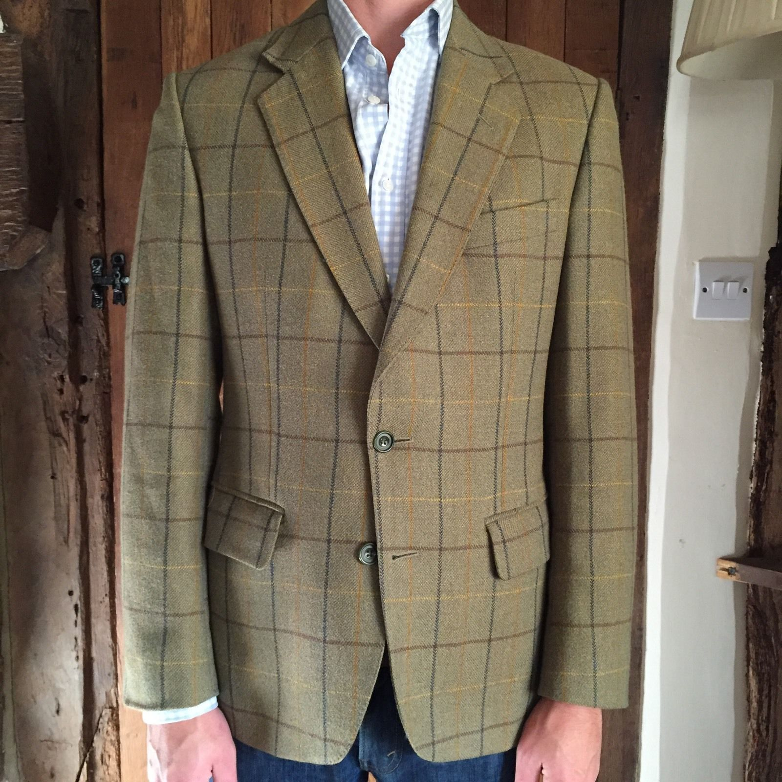 Austin Reed Mens Tweed Jacket 38 40 Regular Ebay
