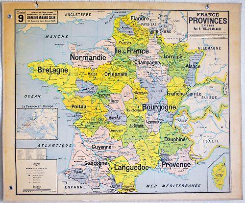 Carte VidalLablache n9 France provinces en 1789 amazing
