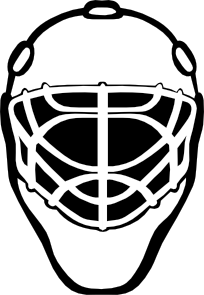 Goalie Mask Simple Outline Clip Art Hockey Mask Hockey Goalie Hockey Tournaments