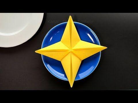 Napkin folding for christmas: Star - How to fold a napkin star - Idea for Christmas Table