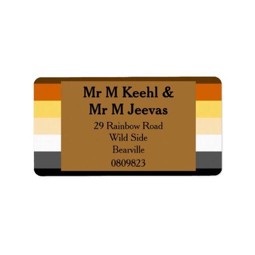 bear pride flag gold address labels for bears pinterest weddings