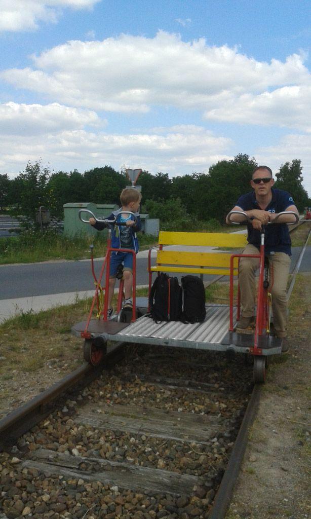 draisine fietsen met kinderen groesbeek naar kranenburg