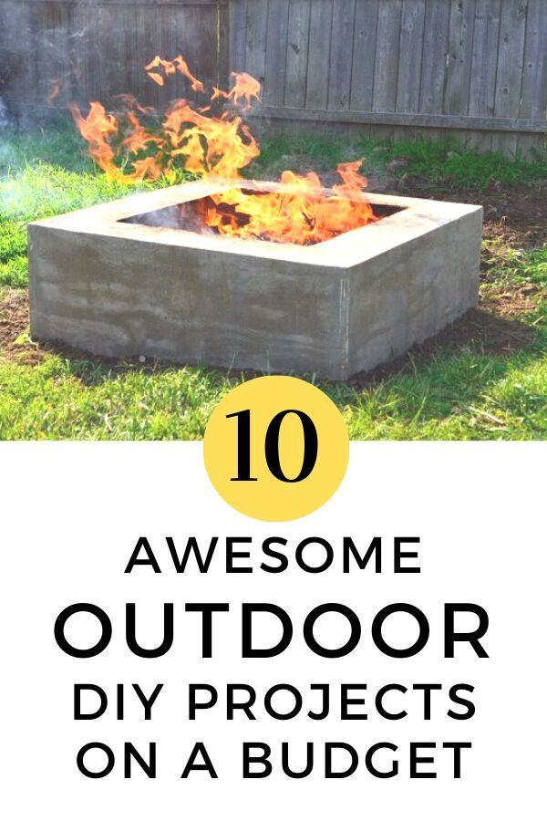Get ready for Summer with these awesome budget friendly outdoor DIY projects. These fun upgrades will make your patio or garden spaces enjoyable to be around and you can do them yourself with these cheap upgrade ideas. #diy #outdoor #decorideas