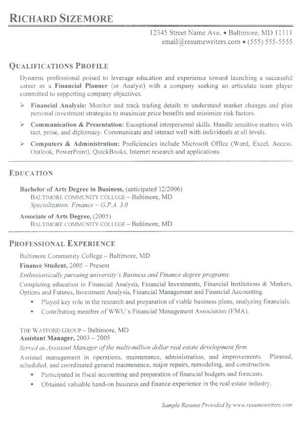 After College 4-Resume Examples Job resume examples, Resume