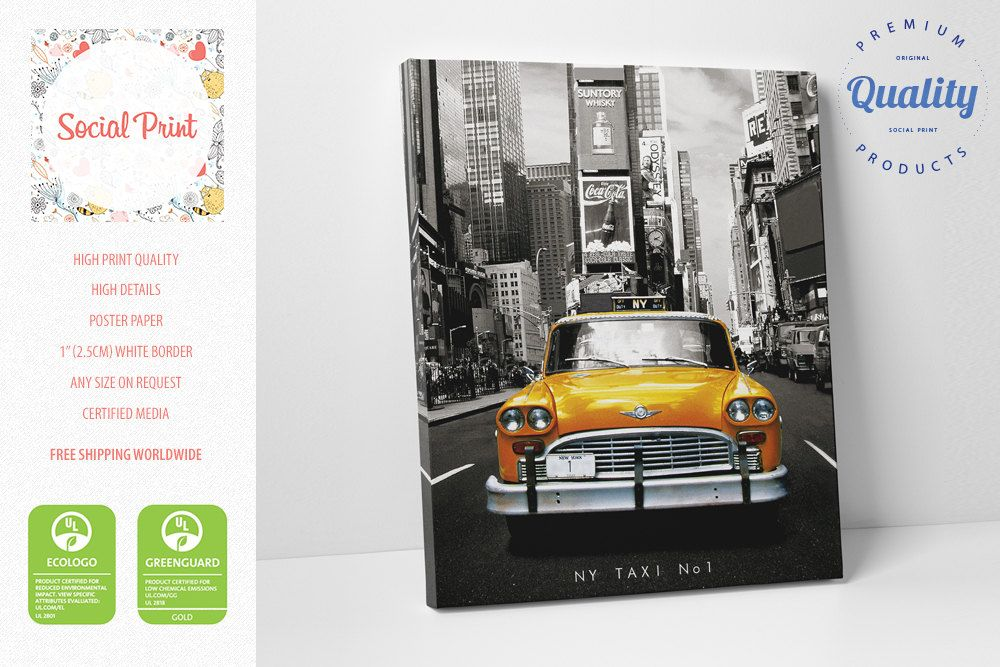sale! taxi nr 1 canvas print, size a2 / free shipping / fine art, Powerpoint templates