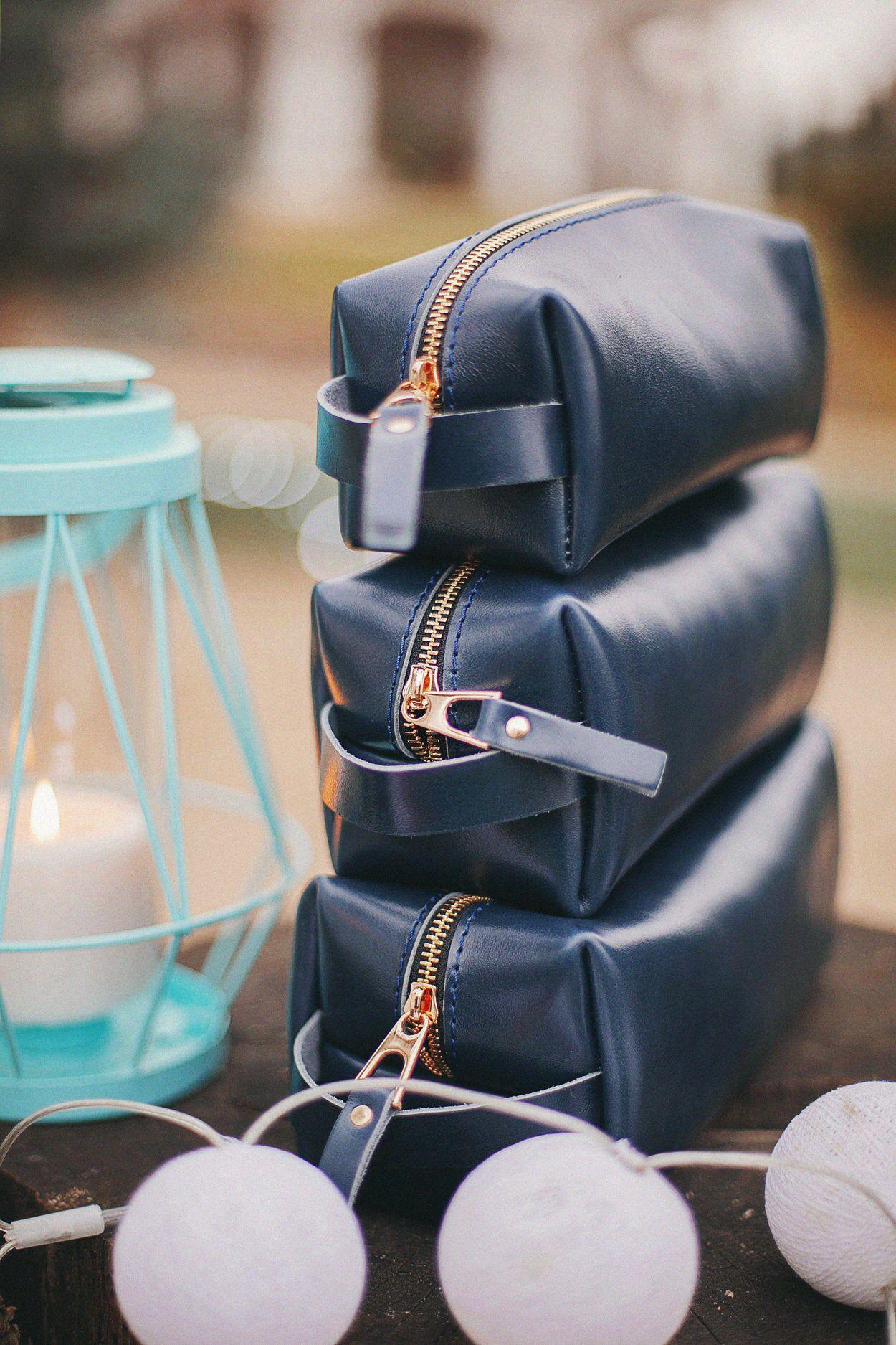 Dopp Kit for Mens Leather Dopp Kit Pattern Leather Dopp