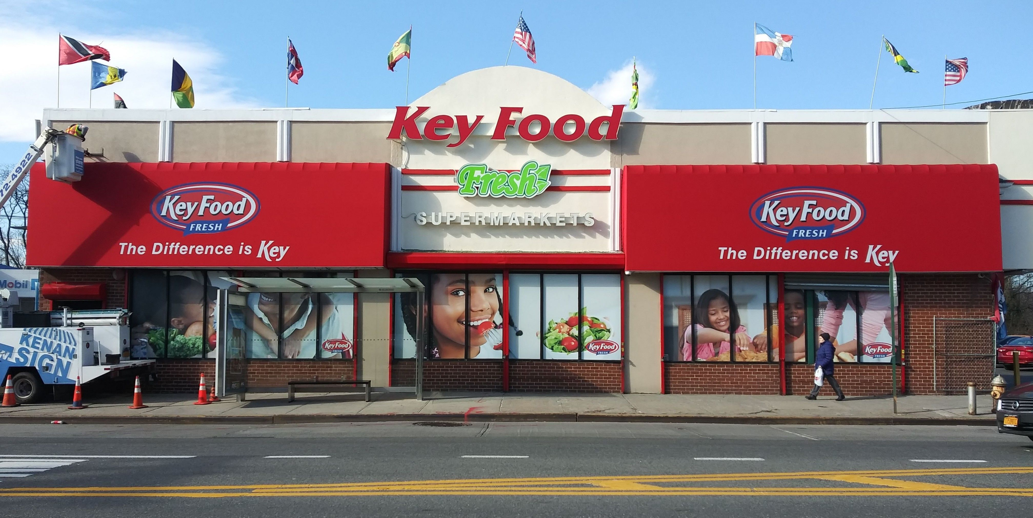 Keyfood Supermarket Storefront Jamaica Nyc Channel Letter Signs Nyc Channel Letters