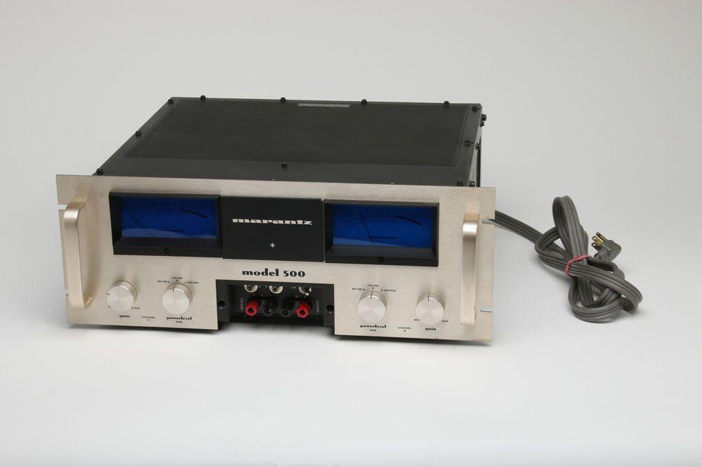 Vintage Marantz Model 500 Stereo Power Amplifier Scarce Rare! USA Made # Marantz