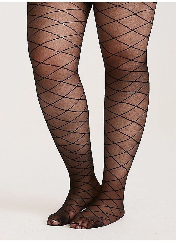 1f157a15d3743 TORRID : Flocked Diamond Print Tights | One Can Never Have Too Many ...