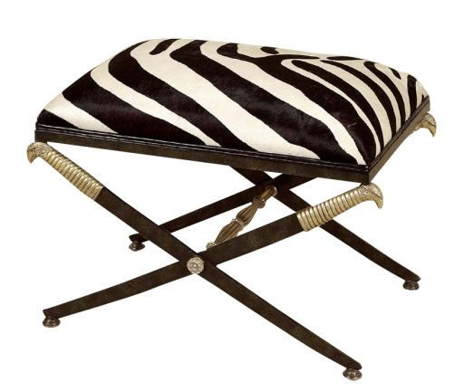 Maitland Smith Zebra Print Stool