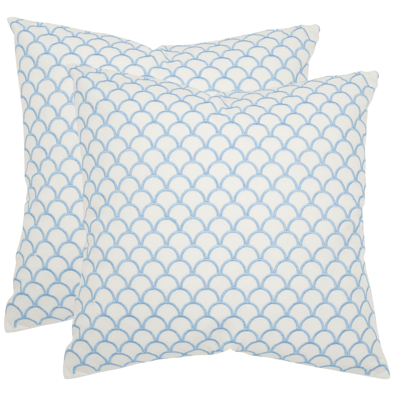 Safavieh Nikki 200-inch Blue Feather Decorative Pillows (Set of 20 ...