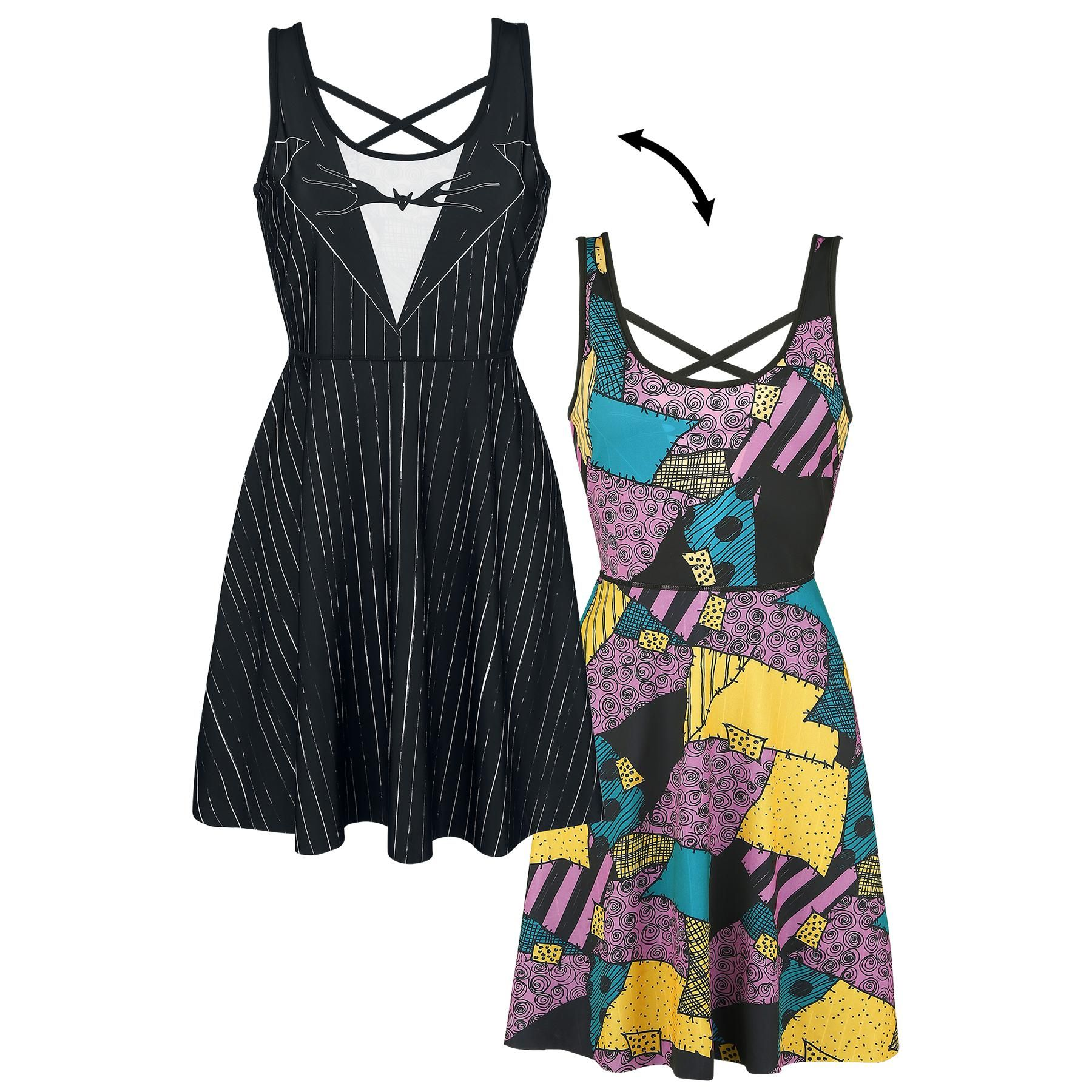 ac78d9cbae Jack And Sally Double Reversible - Short dress by The Nightmare Before  Christmas