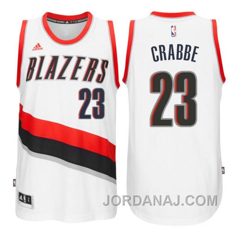 dedc4816c6e ... spain allen crabbe portland trail blazers 23 new swingman home white  jersey price 89.00 air jordan