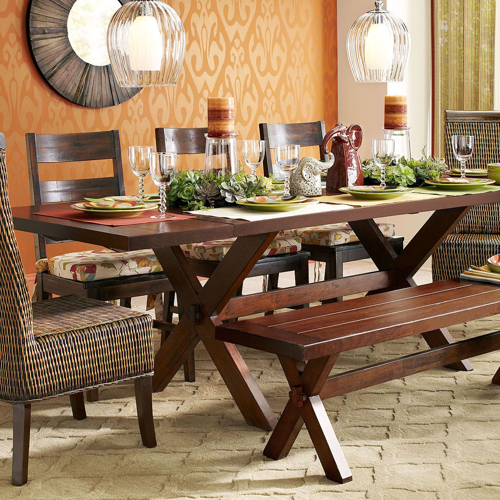 Build Your Own Parsons Tobacco Brown Dining Collection Dining Room Furniture Sets Farmhouse Style Kitchen Table