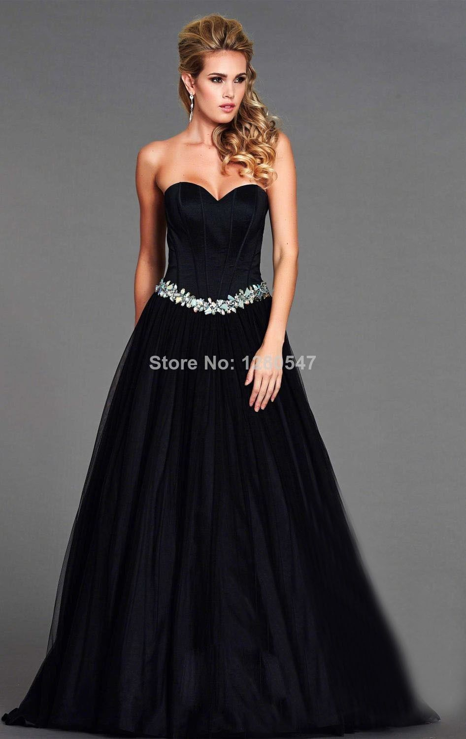 Vintage black sweetheart puffy wedding gowns ball gown beaded
