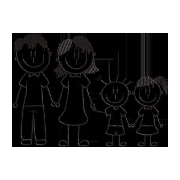 Matriz De Bordado Gratis Familia Coisas Simples Para Desenhar